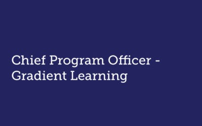Chief Program Officer  Gradient Learning