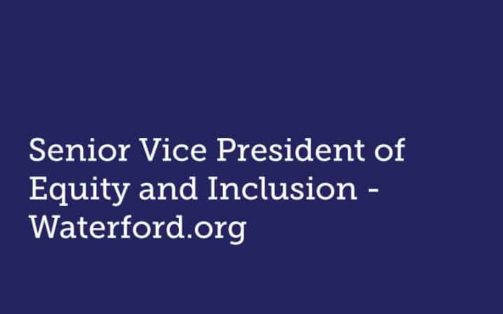 Senior Vice President  of Equity & Inclusion  Waterford.org
