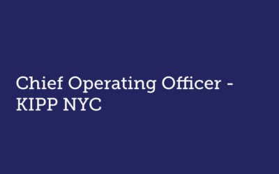 Chief Operating Officer  KIPP NYC